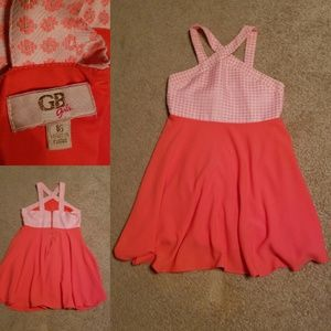 Girls dressy orange dress